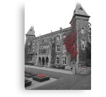 Newton House in the Red (South Wales) Canvas Print