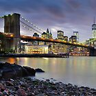 Sunset in Dumbo by Randy  Le'Moine