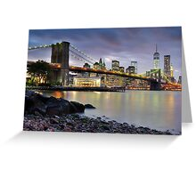 Sunset in Dumbo Greeting Card