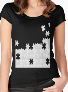 JUST A PUZZLE PIECE Women's Fitted Scoop T-Shirt