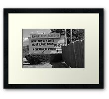 Drive-In Theater Framed Print
