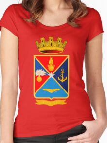 Italian Defence Staff COA Women's Fitted Scoop T-Shirt