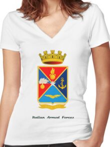 Italian Defence Staff COA 3 Women's Fitted V-Neck T-Shirt