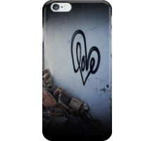 Graffiti Love and Rubble iPhone Case/Skin