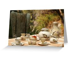 A Mad Tea Party - Alice In Wonderland Art Greeting Card