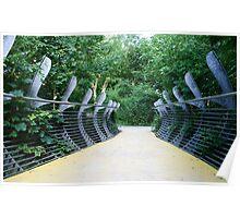 Whale Bridge - Sculpture Trail Flambrorough Poster