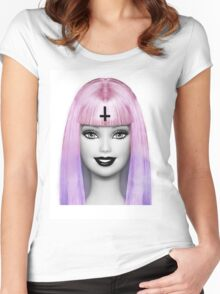 GRUNGE BARBIE Women's Fitted Scoop T-Shirt