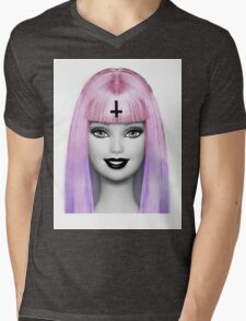 GRUNGE BARBIE Mens V-Neck T-Shirt