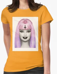 GRUNGE BARBIE Womens Fitted T-Shirt