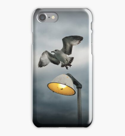Seagull Flying Off the Light iPhone Case/Skin