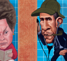 Dilma Rousseff and Obama Sticker