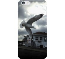 Seagull Over Pier and Bar iPhone Case/Skin