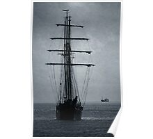 Tall Ship Becalmed Poster