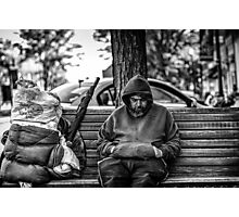 Homeless in Small Town Photographic Print