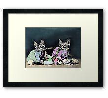 Naughty Kittens Framed Print
