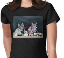 Naughty Kittens Womens Fitted T-Shirt