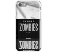 Danger Zombies Run iPhone Case/Skin
