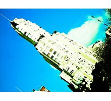 Building on blue sky. Photographic Print