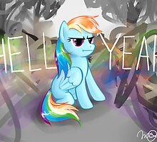 Rainbow Dash by cheezup