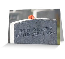 Unknown soldiers Greeting Card