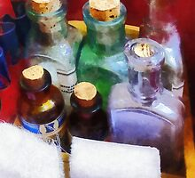 Doctors - Medicine Bottles and Bandages by Susan Savad