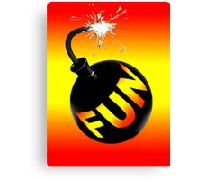 fun bomb Canvas Print