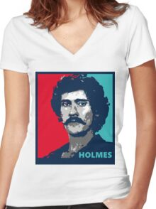 John Holmes Women's Fitted V-Neck T-Shirt