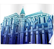 london church, in blue Poster