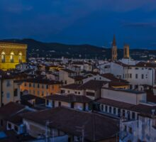 Night Time in Firenze Sticker
