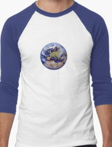 Earth: mostly harmless Men's Baseball ¾ T-Shirt