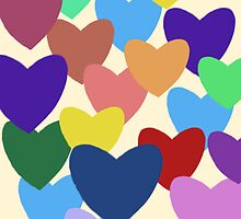Multi coloured hearts by bardenne