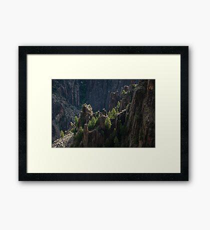 Crag - Black Canyon of the Gunnison National Park, Colorado Framed Print