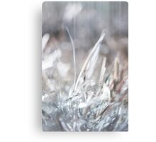 Christmas or New Year Background with tinsel Canvas Print