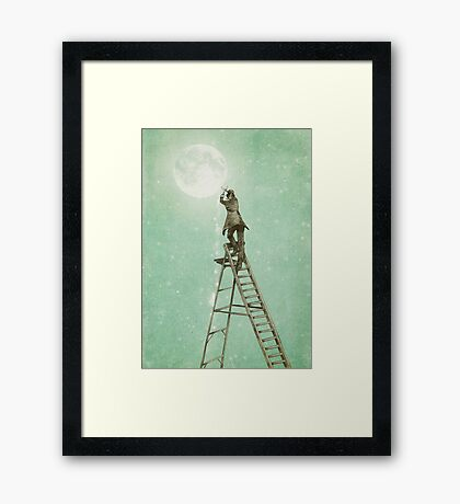 Waning Moon Framed Print