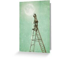 Waning Moon Greeting Card