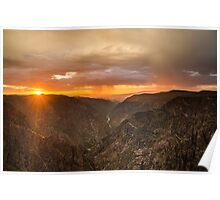 Sunset Overlook - Black Canyon of the Gunnison National Park, Colorado Poster