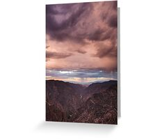Sunset Overlook.2 - Black Canyon of the Gunnison National Park, Colorado Greeting Card