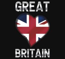 Great Britain - British Flag Heart & Text - Metallic by graphix