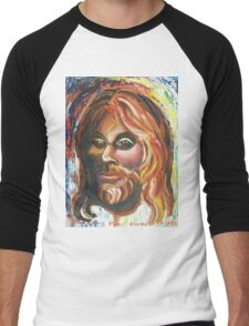 "Jesus ""Why me?"" by Suzanne Marie Leclair Men's Baseball ¾ T-Shirt"