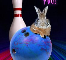 Thank You Bowling Bunny Rabbit by jkartlife