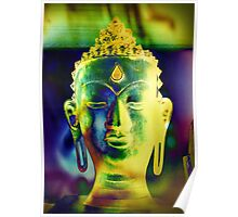 5048 Buddha head Poster