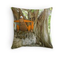 Ape in the jungle Throw Pillow