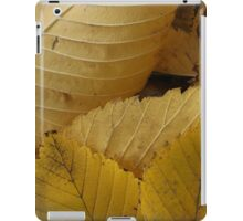 Golden Elm Leaves iPad Case/Skin