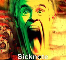 SICKNOTE phone cover 2 by norrisnuvo