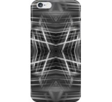Black and white kaleidoscope pattern iPhone Case/Skin