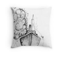 Jumping Ship Throw Pillow