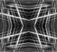 Black and white kaleidoscope pattern Sticker