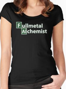 Full Metal Alchemist and Science.  Women's Fitted Scoop T-Shirt