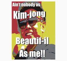 Kim jong beautif-il as me One Piece - Short Sleeve