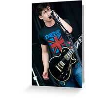 Arctic Monkeys Alex Turner Greeting Card